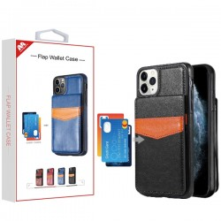Black Flap Wallet Case (with Package) For Iphone 11 Pro