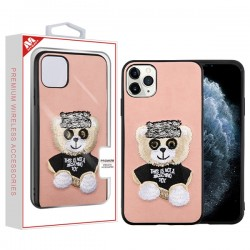 Bear (Pink) Embroidery Executive Protector Cover (with Package) For Iphone 11 Pro