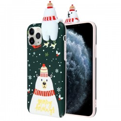 Christmas Bear Candy Skin Cover For Iphone 11 Pro