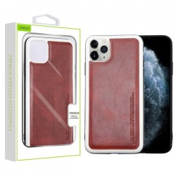 Burgundy Leather Protector Cover (with Package) For Iphone 11 Pro