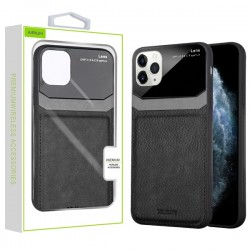 Black Leather Protector Cover (with Package) For Iphone 11 Pro