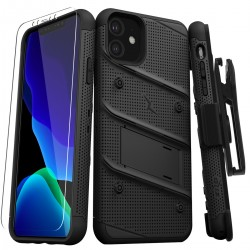 ZIZO BOLT SERIES BUILT-IN KICKSTAND BELT HOLSTER TEMPERED GLASS SCREEN PROTECTOR For Iphone 11