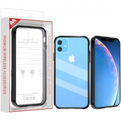 Highly Transparent Clear/Natural Black Sturdy Gummy Cover (with Package) For Iphone 11