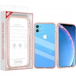 Highly Transparent Clear/Transparent Rose Gold Sturdy Gummy Cover (with Package) For Iphone 11