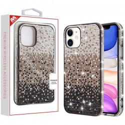 Black Gradient Crystals Sparks Case (with Package) For Iphone 11