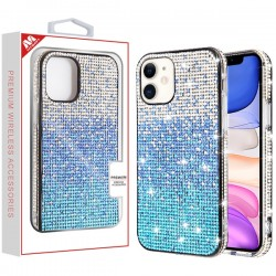 Blue Gradient Crystals Sparks Case (with Package) For Iphone 11