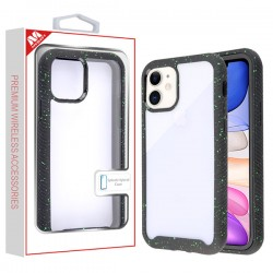 Highly Transparent Clear/Black Splash Hybrid Case (with Package) For Iphone 11