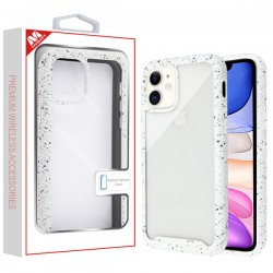 Highly Transparent Clear/White Splash Hybrid Case (with Package) For Iphone 11
