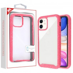 Highly Transparent Clear/Red Splash Hybrid Case (with Package) For Iphone 11