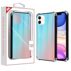 Blue Gradient Tempered Glass Backing Executive Protector Cover (with Package) For Iphone 11