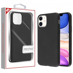 Black Liquid Silicone Protector Cover (with Package) For Iphone 11