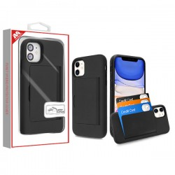 Black/Black Poket Hybrid Protector Cover (with Back Film)(with Package) For Iphone 11
