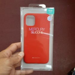 MERCURY SILICONE CASE FOR IPHONE 11 PRO MAX (RED)