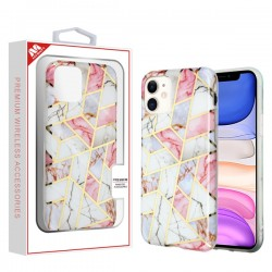 Electroplated Pink Marbling Candy Skin Cover (with Package) For Iphone 11