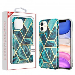 Electroplated Blue Marbling Candy Skin Cover (with Package) For Iphone 11