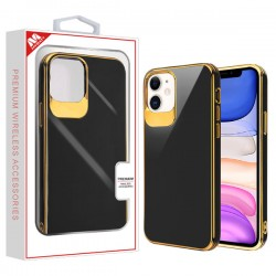 Electroplated Gold/Black Candy Skin Cover (with Package) For Iphone 11