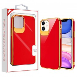 Electroplated Gold/Red Candy Skin Cover (with Package) For Iphone 11