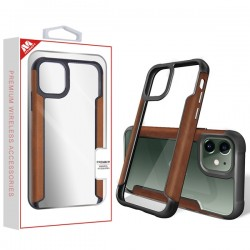 Brown Leather Protector Cover (with Package) For Iphone 11