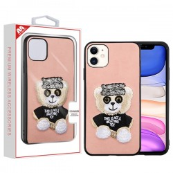 Bear (Pink) Embroidery Executive Protector Cover (with Package) For IPhone 11