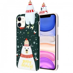 Christmas Bear Candy Skin Cover For Iphone 11