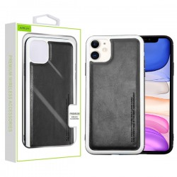 Black Leather Protector Cover (with Package) For Iphone 11