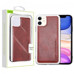 Burgundy Leather Protector Cover (with Package) For Iphone 11