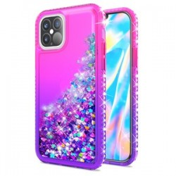 "Color Change Diamond Glitter Quick Sand for iPhone 12 Max & Pro(6.1"") - Pink/Purple"