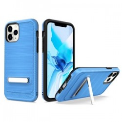 "Brushed with magnetic kickstand for iPhone 12 PRO&MAX (6.1"") - Blue"