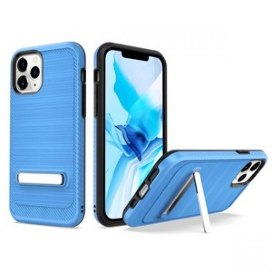 """Brushed with magnetic kickstand for iPhone 12 PRO&MAX (6.1"""") - Blue"""