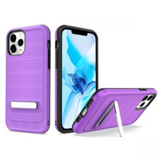 """Brushed with magnetic kickstand for iPhone 12 PRO&MAX (6.1"""") - Purple"""