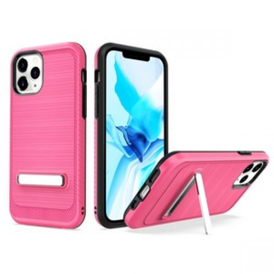 """Brushed with magnetic kickstand for iPhone 12 PRO&MAX (6.1"""") - Pink"""
