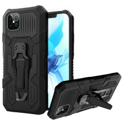 "Travel Kickstand w/ Metal Clip Hybrid for iPhone 12 PRO&MAX (6.1"") - Black"