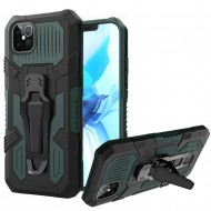 "Travel Kickstand w/ Metal Clip Hybrid for iPhone 12 PRO&MAX (6.1"") - Midnight Green"