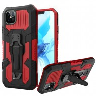 "Travel Kickstand w/ Metal Clip Hybrid for iPhone 12 PRO&MAX (6.1"") - Red"