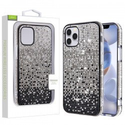 Crystals Sparks Case for APPLE iPhone 12 Max (6.1) - Black Gradient