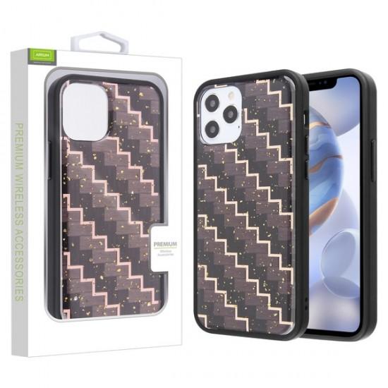 Airium Hybrid Case for Apple iPhone 12 (6.1) / iPhone 12 Pro (6.1) - Carbon Fiber Texture / Black