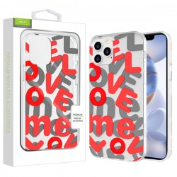 Airium Love Me Fusion Protector Case for Apple iPhone 12 (6.1) / iPhone 12 Pro (6.1) - Red
