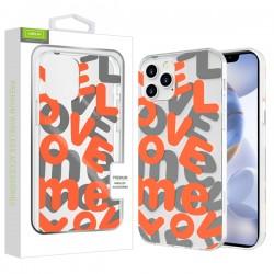 Airium Love Me Fusion Protector Case for Apple iPhone 12 (6.1) / iPhone 12 Pro (6.1) - Orange