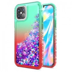 """Color Change Diamond Glitter Quick Sand for iPhone 12 PRO MAX(6.7"""") - Green/Red"""