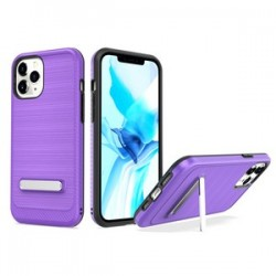 "Brushed with magnetic kickstand for iPhone 12 PRO MAX(6.7"") - Purple"