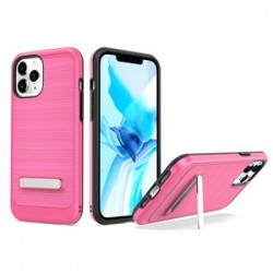 "Brushed with magnetic kickstand for iPhone 12 PRO MAX(6.7"") - Hot Pink"