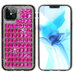 For iPhone 12 Pro Max 6.7 Bling Diamond Shiny Crystal Case Cover - Hot Pink