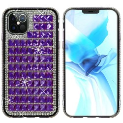 For iPhone 12 Pro Max 6.7 Bling Diamond Shiny Crystal Case Cover - Dark Purple