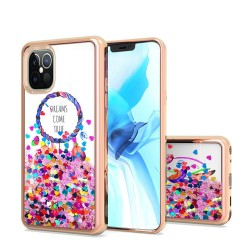 Design Water Quicksand Glitter Chrome TPU For Apple iPhone 12 6.7 inch - Dreams Come True