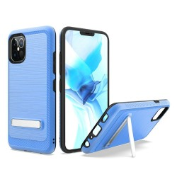"Brushed with magnetic kickstand for iPhone 12 PRO MAX(6.7"") - Blue"