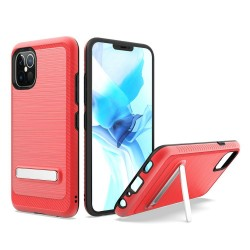 "Brushed with magnetic kickstand for iPhone 12 PRO MAX(6.7"") - Red"