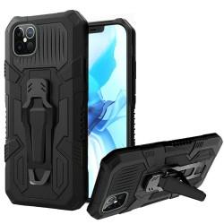 "Travel Kickstand w/ Metal Clip Hybrid for iPhone 12 PRO MAX(6.7"") - Black"