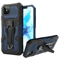 """Travel Kickstand w/ Metal Clip Hybrid for iPhone 12 PRO MAX(6.7"""") - Navy Blue"""