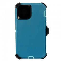 iPhone 12 Mini hybrid case with clip heavy duty kickstand holster cover - Teal