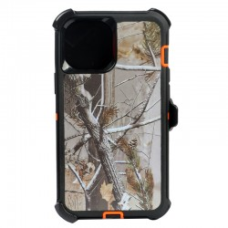 iPhone 12 Mini hybrid design case with clip heavy duty holster cover ORANGE TREE